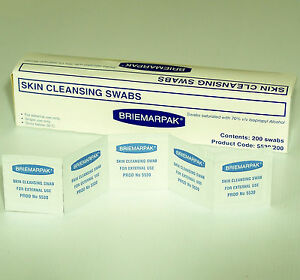 2000 70% ISOPROPYL ALCOHOL IMPREGNATED WIPES SWABS CLEANING PAD RUBBING ALCOHOL