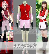 Hot Anime Naruto 2Nd Haruno Sakura Women Cosplay Party Costume Summer Dress