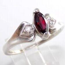Avon Sterling Silver Garnet Marquis Ring - NIB - sz 10 - January Birthstone