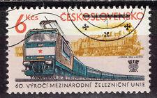 Czechoslovakia Railroad 60 Ann Train modern am Locomotives stamp 1965