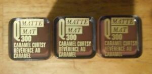 3 tube lot COVERGIRL QUEEN MATTE LIPSTICK Q300 CARAMEL CURTSY unsealed FLAW