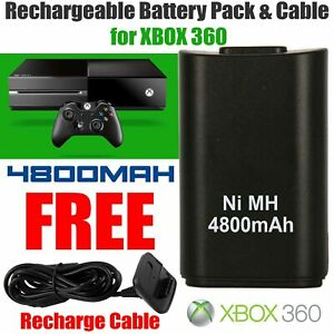 for Xbox 360 Rechargeable Battery Pack Charger Cable Dock Wireless Controller
