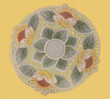 "Fancy new round lace Table Mat /Doily/Napkin Cream Ø 40cm (16"") sunflower"