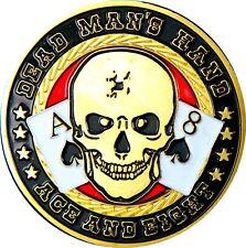 "Poker Card Guard ""dead Man´s Hand"" 24k Gold Plated"