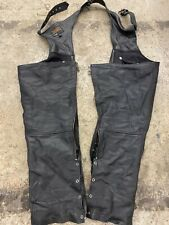 Street & Steel Deep Pocket Leather Motorcycle Chaps Size 2XL