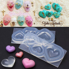 3D Herz Cabochon Silicone Mold Mould Resin Pendant Jewelry Making NEU