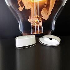 Ersatzglas 7015 Wofi Bellevue Glas weiß lackiert Klarrand Oval Lampenglas Schirm