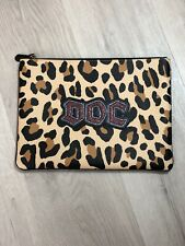 Disney X Coach Snow White Glitter DOC Large Clutch Pouch Leopard Print