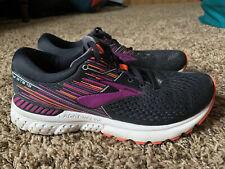 Brooks Adrenaline GTS 19 Women's Black/Purple/Coral Running Shoes Size 9