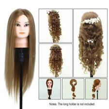 """75"""" Real Hair Practice Training Head Mannequin Hairdressing Doll With Clamp A5T2"""
