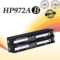 2 PK 972A Black Ink Cartridge For HP PageWide Pro 477dw 377dw 377dn 577dw 452dw