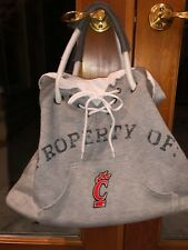 NEW WITH TAGS PROPERTY OF UNIVERSITY OF CINCINNATI GREY JERSEY TOTE BAG PURSE