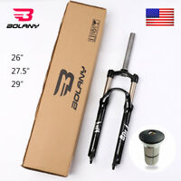 """US BOLANY MTB Bicycle Suspension Fork 100mm Travel 26/27.5/29"""" 9mm QR Disc Brake"""