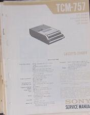 Grabadora De Cassette Sony TCM-737 Manual de taller de reparación de servicio (copia Original)