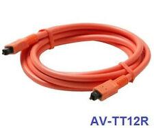 12ft Fiber Optical SPDIF Toslink to Toslink Digital Audio Orange Cable, AV-TT12R