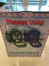 PICNIC TIME - The Original Insulated Picnic Basket/Backpack - Bermuda Green