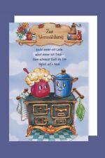 Vermählung  Hochzeit Karte Grußkarte Humor Kochtöpfe 16x11cm