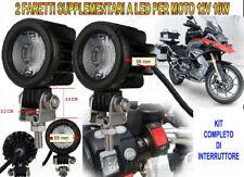 Faretti Supplementari LED 12V 10W 6000K Kit Completo  Moto Guzzi Stelvio 1200