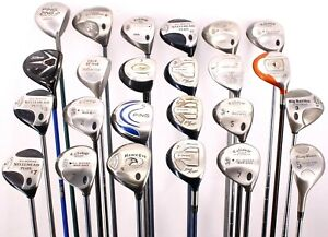 Lot of 24 Golf Driver/Fairway Woods Ping Titleist TaylorMade Callaway Mizuno RLH