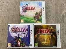 Zelda Ocarina Of Time 3D + Majora's Mask + A link Between World. 3DS. TBE