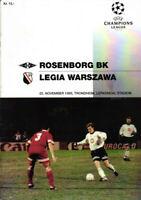 EC I 95/96 Rosenborg BK - Legia Warschau / Warszawa, 22.11.1995 CHAMPIONS LEAGUE