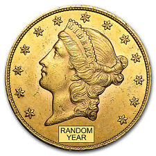 $20 Liberty Gold Double Eagle Almost Uncirculated - Random Year