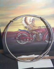 "VINTAGE RPL HARLEY-DAVIDSON 1957-70 IRONHEAD SPORTSTER 51"" braided  CLUTCH CABLE"