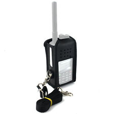 Radio Titular de cuero funda negro caso for Retevis RT3 TYT MD380 Walkie Talkie