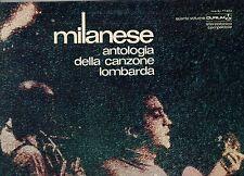 NANNI SVAMPA disco LP 33 giri MILANESE ANTOLOGIA DELLA CANZONE LOMBARDA VOL 4