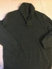 J. Crew Heather Green Man Sweater, L, euc