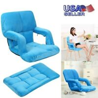 Convertible Sofa Adjustable Arm Floor Chair Leisure Recliner Lounge Couch USA
