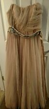 Gorgeous Long Champagne/Beige *Bee Darlin* Prom /Special Occasion dress - LQQK!!