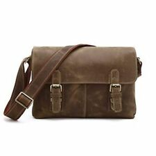 Unbranded Men's Leather Messenger/Shoulder Bag
