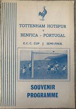 More details for tottenham hotspur/spurs v benfica pirate european cup 1961/62
