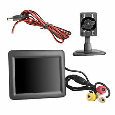 "3.5"" LCD Color Screen Backup Monitor Display RCA Video for Car Rear View Camera"