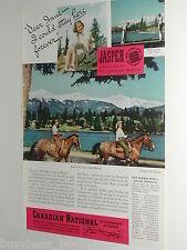 1940 Canadian National Railways advertisement, Jasper Alberta, CNR