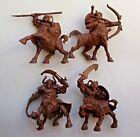 Set of 4 Centaurs Warriors Plastic Toy Soldier 54 mm 1/32 Fantasy Tehnolog