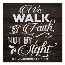 Walk by Faith, Corinthians Scripture Rustic Looking Faith Wood B3-12120061078