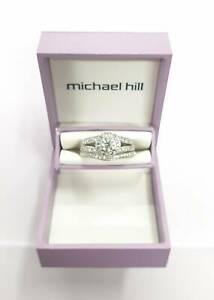 Michael Hill Ladies 18ct White Gold Diamond Ring Set 1.25ct TDW RRP $5,999