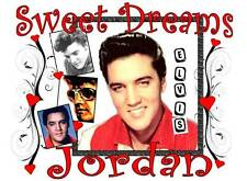 """ELVIS PRESLEY Personalized PILLOWCASE """"Sweet Dreams"""" design #2 Any NAME Printed"""