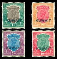 British Colonies - KUWAIT 1929/37 KGV  high values  Scott # 31-34 mint VLH  XF