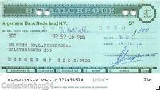 Nederland Betaalcheque ABN n.v. ABN 1975