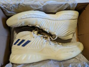 USED Adidas Basketball Shoes 9.5 Cream BB7282 Crazy Explosive LOW PK 2017