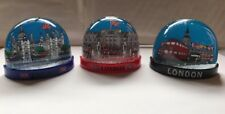 3 X London Snow Globes Fridge Magnets British Souvenir Gift