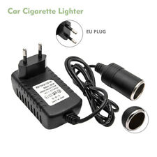 2A Adaptador Convertidor Enchufe EU a Mechero de Coche Transformador Corriente