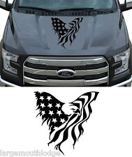 AMERICAN EAGLE FLAG HOOD GRAPHIC DECAL TRUCK CAR BOAT JEEP FORD CHEVY DODGE