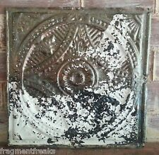 "12"" x 12"" Antique Tin Ceiling Tile *SEE OUR SALVAGE VIDEOS TR4  Raw Metal White"