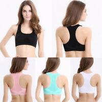 Women Sports Padded Bra Top Athletic Vest Gym Fitness Yoga Stretch New Trusty