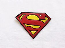 1x Superman patch Comics Super Hero S Iron On Embroidered Applique logo red