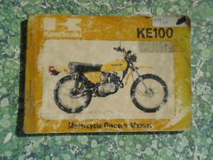 Kawasaki KE100  A8  Motorcycle  Owners Manual 1978  Genuine 691G